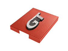 1998-2004 Mustang Red Carbon Fiber Stainless Engine Fuse Box Cover w/ GT Emblem