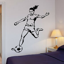 Soccer Football Woman Ball The Best Sport In The World Cool Wall Decal (z2716)