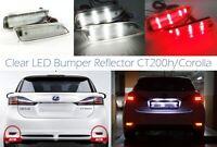 CLEAR Lens Bumper Reflector LED Backup Tail Brake Light For Corolla Lexus CT200h