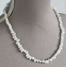 MYSTIC COATED CRACKLED QUARTZ NECKLACE WITH 925 STERLING SILVER CLASP 20""