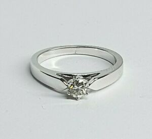 Genuine Solid 9k Diamond Ring 0.25ct in White Gold Val$1300