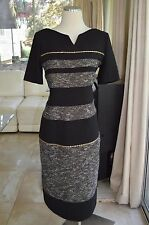 Authentic Women's Axara Paris Textured Sequin Dress Size 42 Made In France