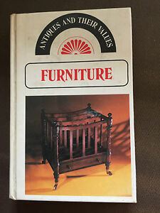 """1976 """"ANTIQUES AND THEIR VALUES - FURNITURE"""" ILLUSTRATED HARDBOOK BOOK"""