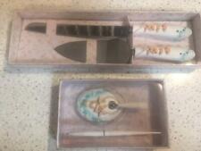 Wedding Gift Sea Shell Knife Cake Server & Pen Set NEW