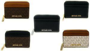 Michael Kors Jet Set Travel Medium Zip Around Card Case Credit Card Wallet