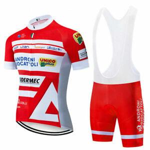 Red Men Cycling Short Jersey Bib Shorts Set Bike Outfits Shirt Padded Pants Kits