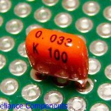 25 pcs 0.033uF 100V Metallized Polyester PE Film Capacitors Pilkor