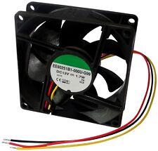 Ventilateur de boîtier d'ordinateur PC 12V 80x80x25mm 87,55m3/h 34dBA 3000rpm