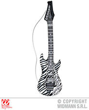 NUEVO 105cm Hinchable cebra Guitarra Rock Musica Banda Desplegable rock disfraz