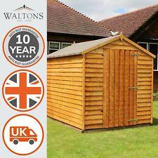 Wooden Garden Shed 8x6 Outdoor Storage Overlap Windowless Single Door 8ft 6ft