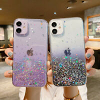 Gradient Glitter Case For iPhone 12 11 Pro Max 7 8 Plus XR Clear Gel Bling Cover