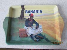 Banania small Metal Serving Tray France advertising trinket plate Black folk art