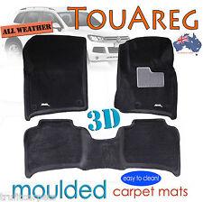 To suit VW Touareg 2011 - 2016 Black CARPET 3D Car Floor Mats
