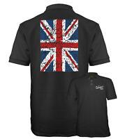 Velocitee Speed Shop Mens Polo Shirt UK GB Union Jack Flag Design W16256