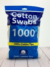 Cotton Swabs Double Tipped Q Tip 100% Cotton Tips Makeup Remover 1000 Ct New