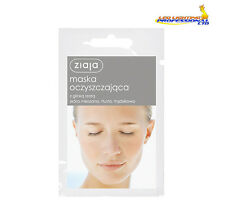 3  ZIAJA FACE MASK CLEANSING WITH GREY CLAY MIXED OIL ACNE SKIN 7ml  00696