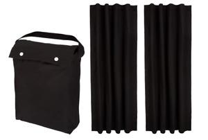 Amazon Basics Portable Travel Window Blackout Curtain Shades w/Suction Cups 2pcs