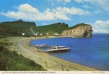 Perce QC Quebec South Beach Peak O Dawn Three Sisters Vintage Postcard D10c