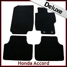 HONDA ACCORD Mk7 2002-2008 Tailored LUXURY 1300g Carpet Car Floor Mats BLACK