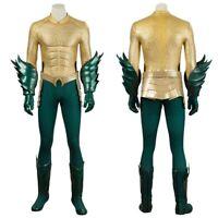 New Aquaman Arthur Curry Cosplay Costume Full Suit Handmade