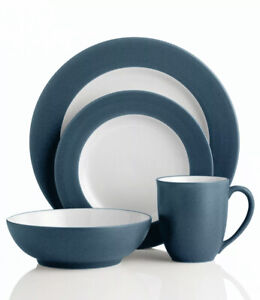 Noritake Dishes Colorwave 4-Piece Rim Blue Place Setting Set