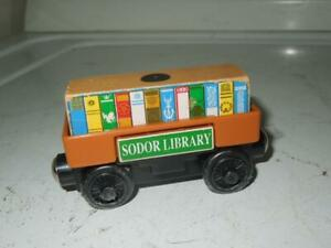 Sodor Library Pop Out Cargo Car - Thomas & Friends Wooden Train Engine Figure