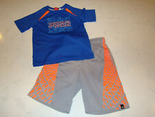 Brothers By Justice Boys Gray Orange Epic Game Shorts Puma Blue Shirt Lot 6