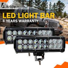 "2PCS 54W 9in Led Light Bar SPOT FLOOD Beam For Jeep Trailer Off road UTE RZR 10"""