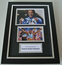 Dame Kelly Holmes SIGNED A4 FRAMED Photo Autograph Display Olympics Double Gold