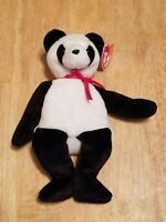 Ty Beanie Baby Fortune Panda Bear 1997 RETIRED Plush Toy - MWMT - Free Shipping