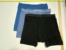 Calvin Klein Boxer Briefs - XL- Blue two shades - Black - 3 Briefs