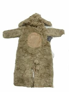Pottery Barn Kids Baby Dog Halloween Costume Brown 12-24 Months Snaps NEW/Open