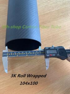 1pc 3k Carbon Fiber Tube ID 100mm x OD 104mm x Length 500mm (Roll Wrapped)