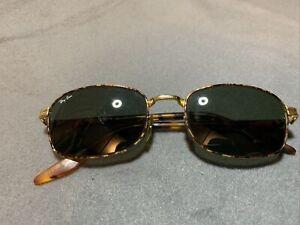 VINTAGE B&L RAY-BAN W2190 NUAS SIDESTREET SPORT SUNGLASSES gold Tortoise