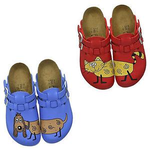 Birkenstock Kay Super Grip Buckle Clogs Work Sandals Buster Slides Birko-Flor