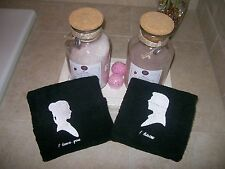 I Love You, I Know. His/Hers Hand Towels