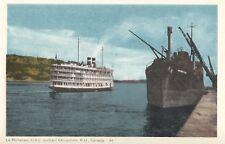 Canada Steamship Lines S.S.  Richelieu quittant CHICOUTIMI Quebec 1940-50s PECO