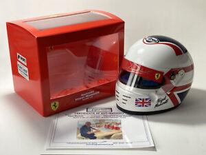 Nigel Mansell SIGNED 1:2 scale helmet, Scuderia Ferrari Formula 1. Bell Mini COA