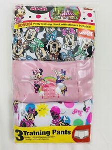 Disney Minnie Mouse Potty Training Pants 2T Girls 3 Pairs Minnie Daisy Duck NEW