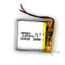 3.7V 650 mAh  LiPo Polymer Battery Rechargeable 803030 for GPS Bluetooth MP3