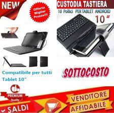 Custodia COVER con Tastiera Universale USB Micro USB per Tablet 10 Pollici Nera