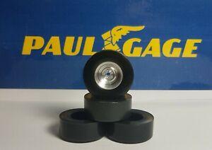 1/24 URETHANE SLOT CAR TIRES 2 pr PGT-HR-30125 fit CB Design Steelies/Insert hub