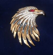 RARE 1964 Crown Trifari Alfred Philippe FIREBIRDS EAGLE Pin / Brooch ~ Philippe