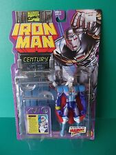 """1995 Toy Biz Marvel  Iron Man 5""""IN """"Century"""" Cape Battle Staff Action Figure"""