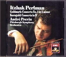Itzhak PERLMAN & PREVIN: GOLDMARK KORNGOLD Violin Concerto CD EMI Violinkonzerte