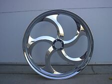 "21"" FRONT WHEEL PACKAGE HARLEY TOURING Outlaw Five Spoke Twisted Wheel"