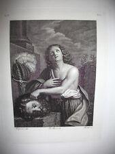 DAVIDE. engraving original 1842. SECOND RE D'ISRAEL