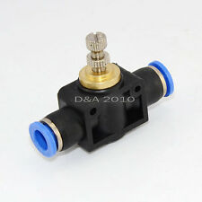 Push in to connect inline Air Fitting Flow Speed Control OD 8MM