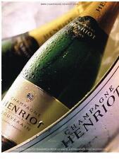 PUBLICITE  2008   HENRIOT  champagne