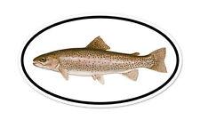 "Trout Fishing Oval car bumper sticker decal 5"" x 3"""